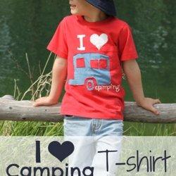 I {Heart} Camping T-shirt ~ a tutorial