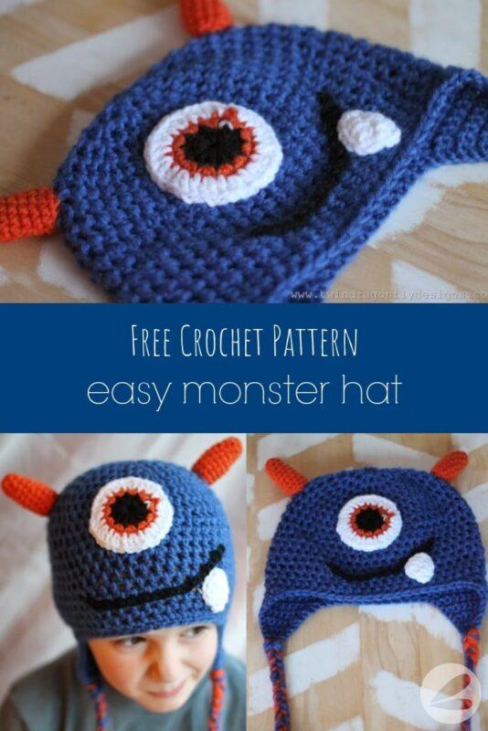 Easy Crochet Monster Hat Pattern