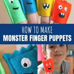 how to make monster finger puppets