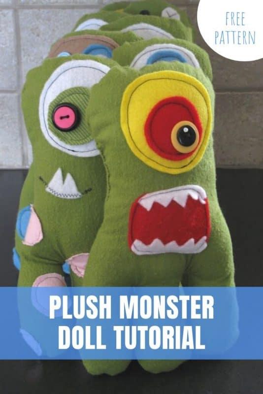 plush monster doll pattern