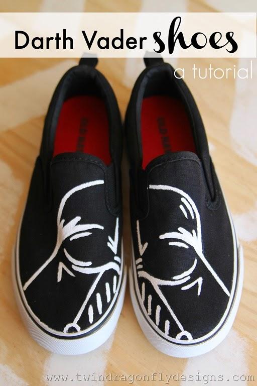 DIY Darth Vader Shoes