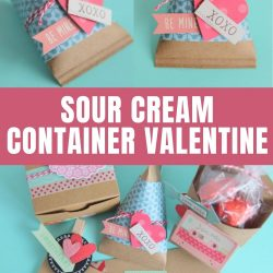 how to make a sour cream container valentine