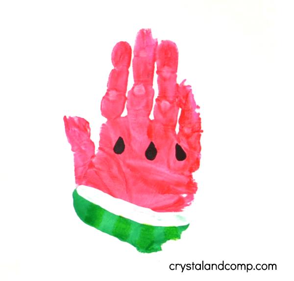Watermelon Hand Print