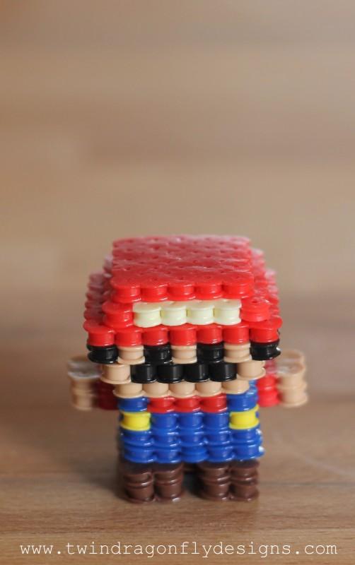 3D Mario Perler Bead Craft