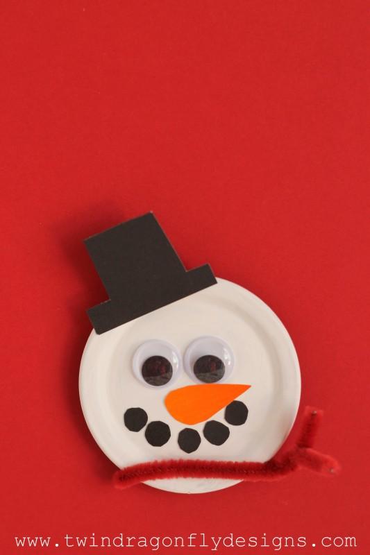 Snowman Magnet Craft