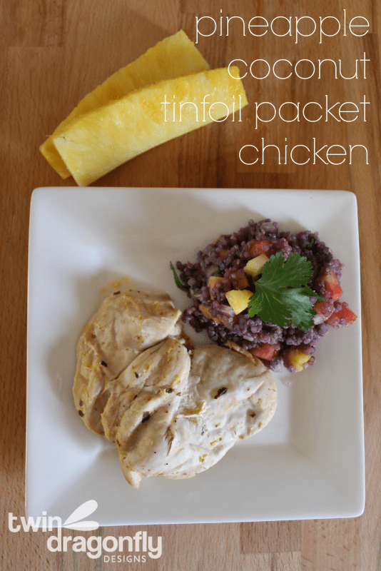 Pineapple Coconut Tinfoil Packet Chicken