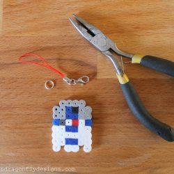 R2D2 Perler Bead Keychain