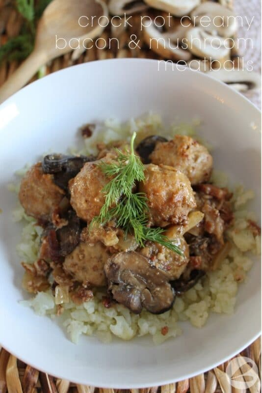 keto bacon and mushroom meatball recipe