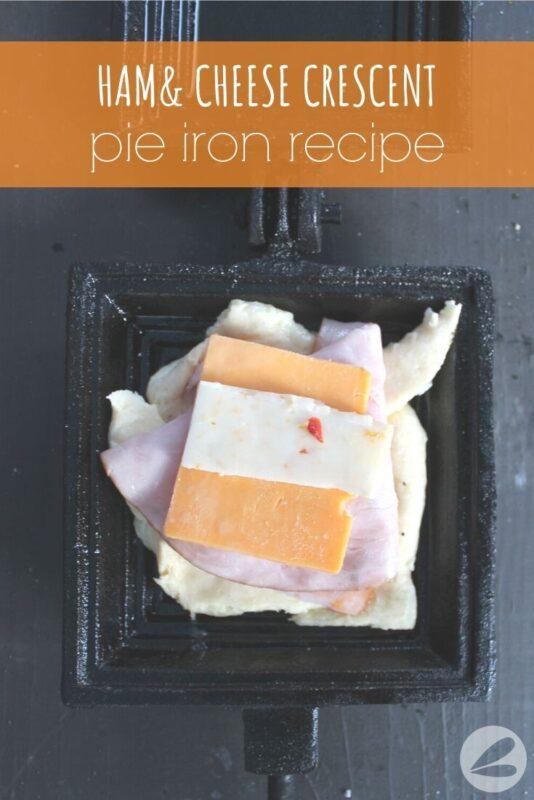 ham cheese crescent pie iron recipe