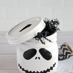 jack skellington mason jar craft