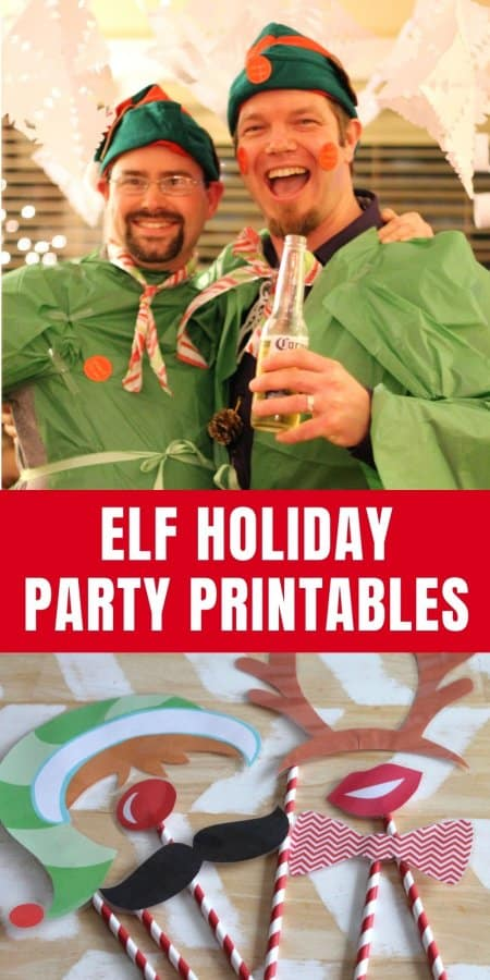 Elf Holiday Party Printables