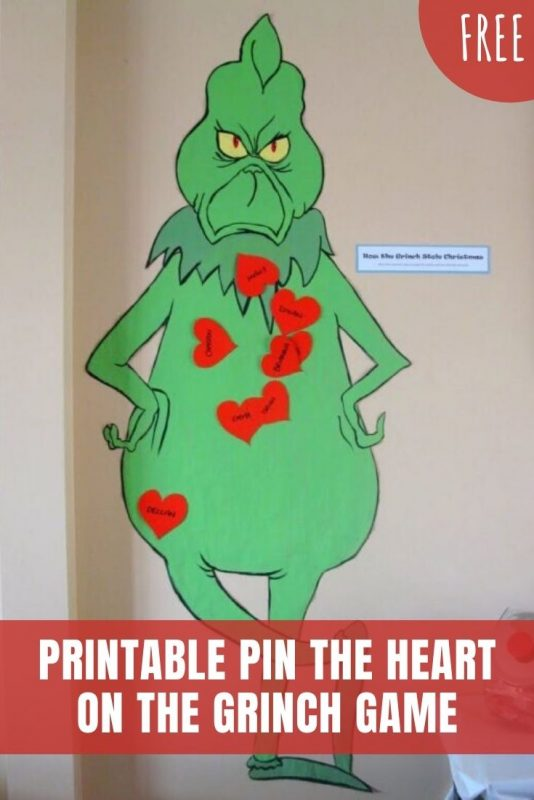 pin the heart on the grinch printable