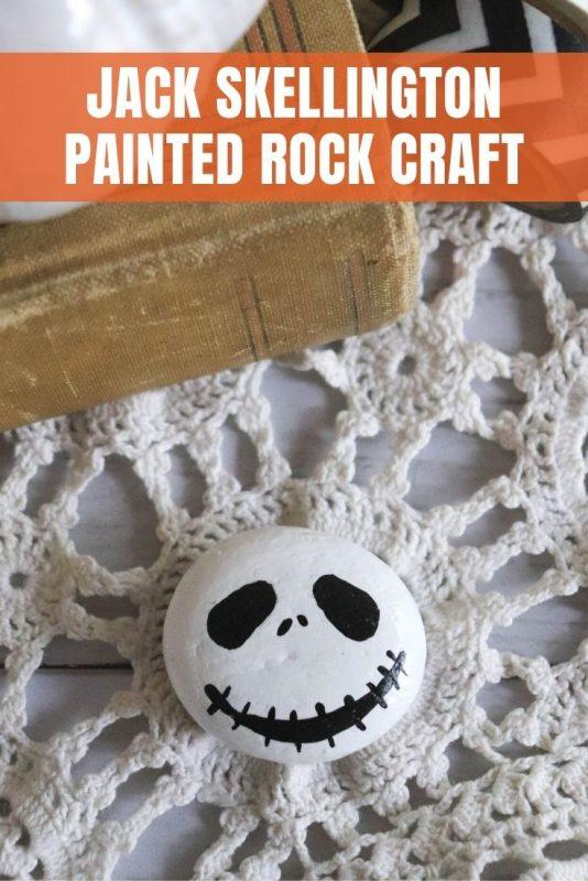 painted rock jack skellington