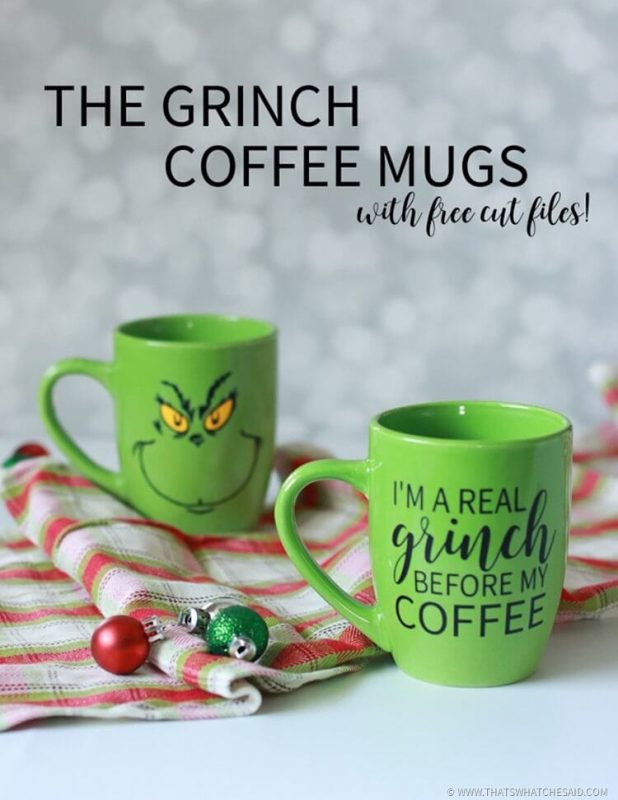 the grinch coffee mugs and free cut files thumb