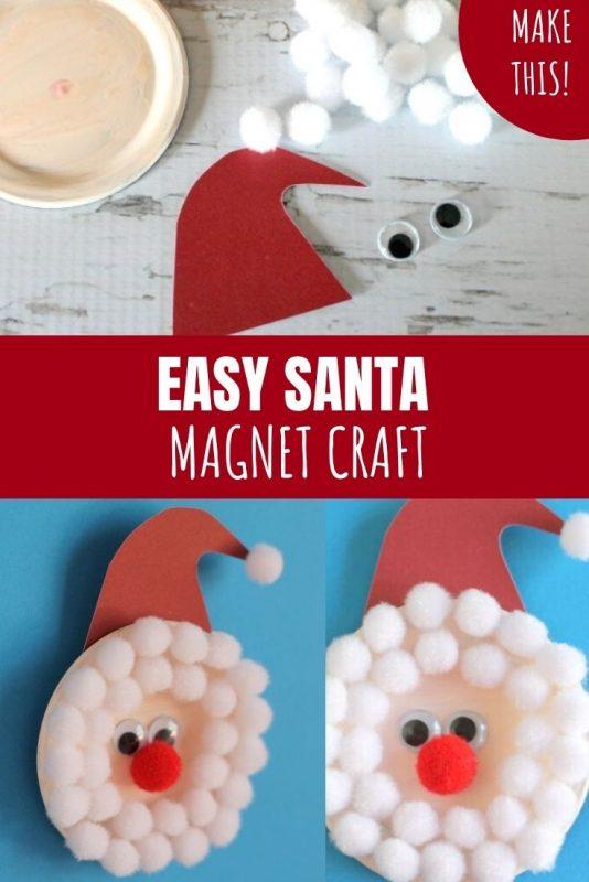 easy santa magnet craft