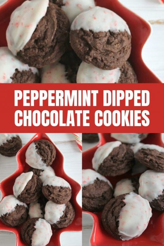 peppermint dipped chocolate cookie recipe