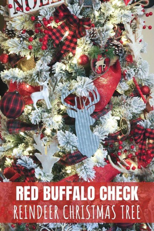 red buffalo check christmas tree