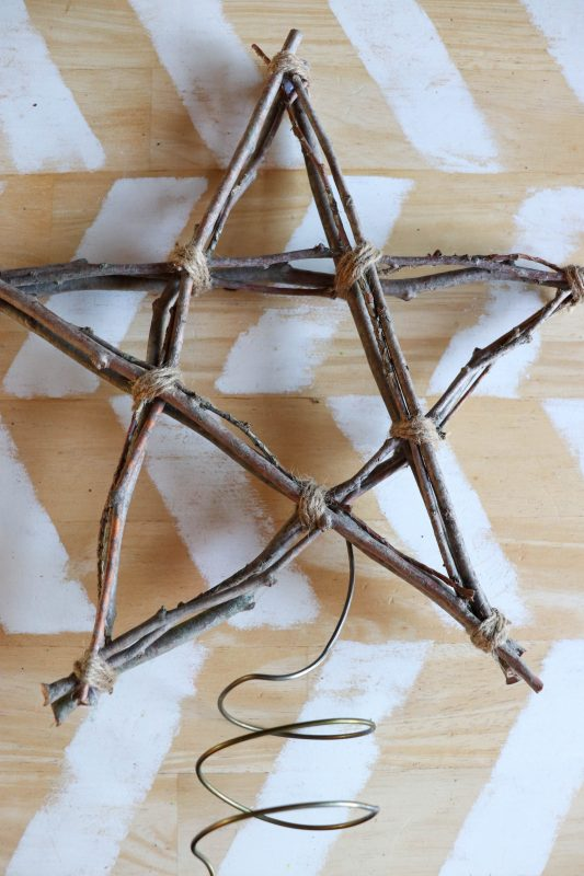 diy twig star tree topper