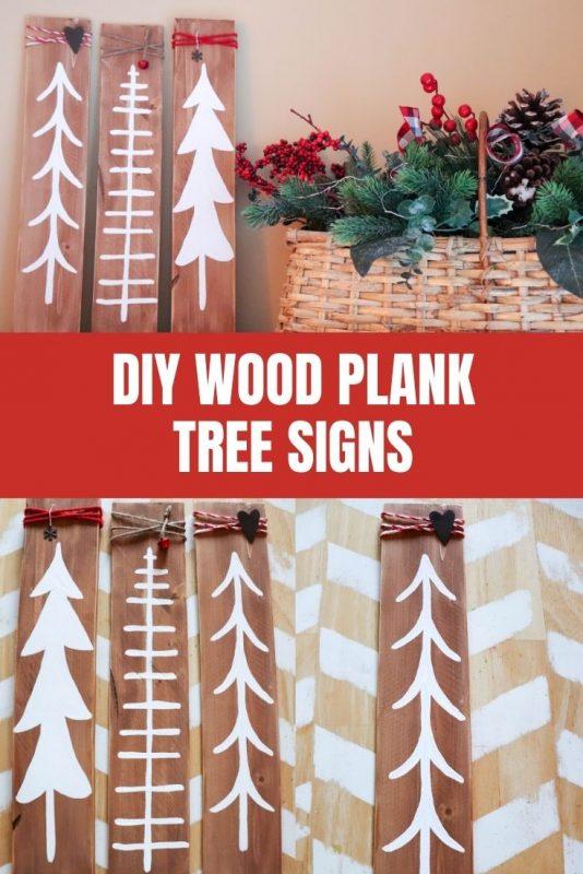 diy wood tree signs