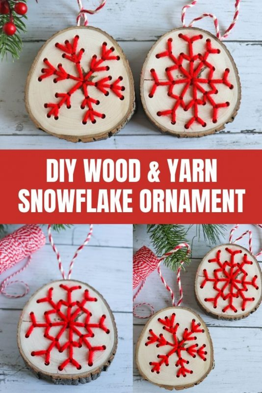 diy wood yarn snowflake