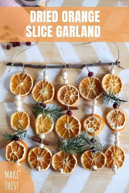 dried orange slice garland