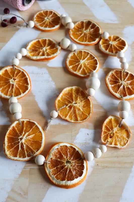 how to make dried orange slice garland
