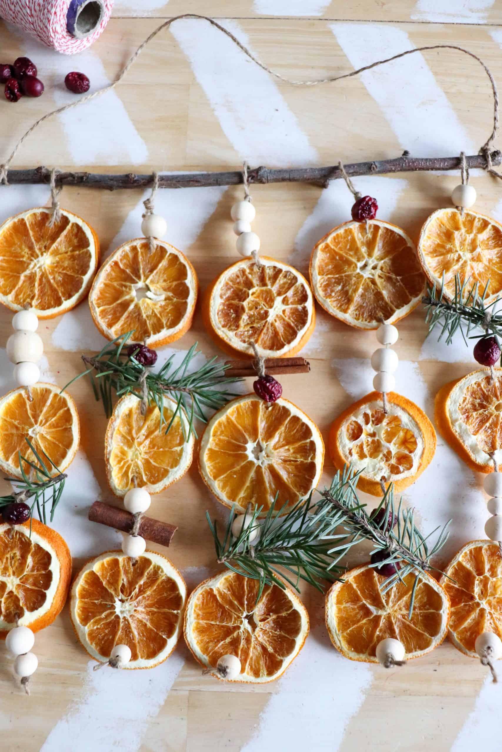 How to Make Dried Orange Slice Garland » Homemade Heather