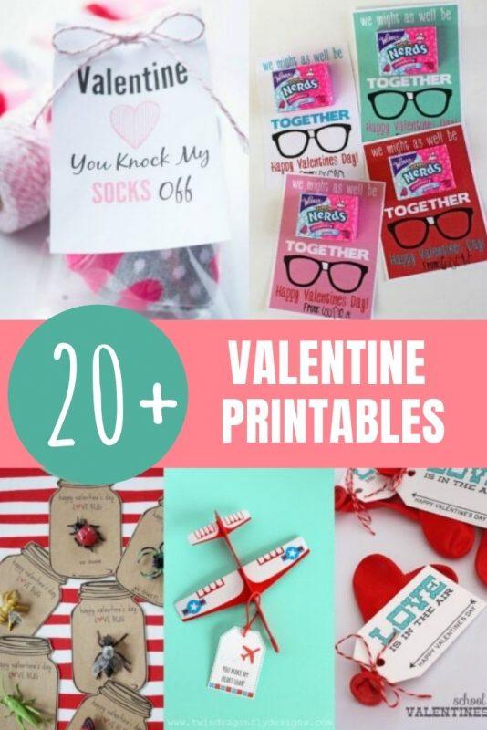 valentine printables for kids