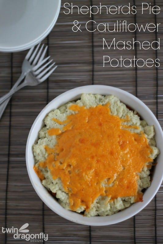 Shepherds Pie with Cauliflower Mashed Potatoes x