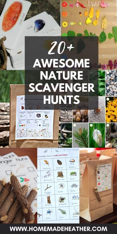 awesome nature scavenger hunts