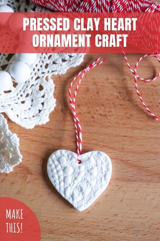 clay heart ornament craft