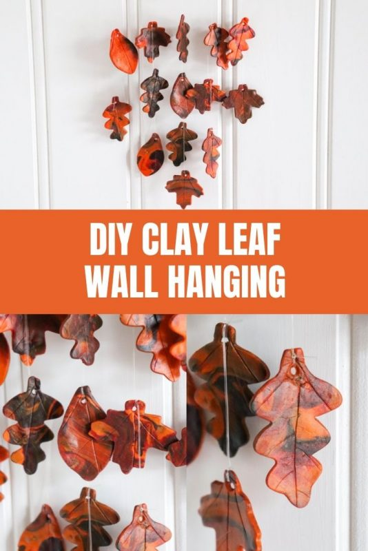 clay leaf wall hanging craft