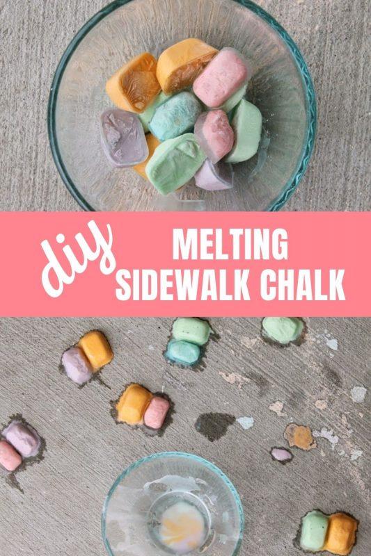 diy melting sidewalk chalk