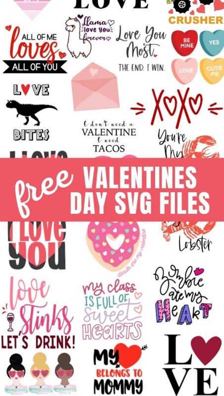 free valentines day cut files