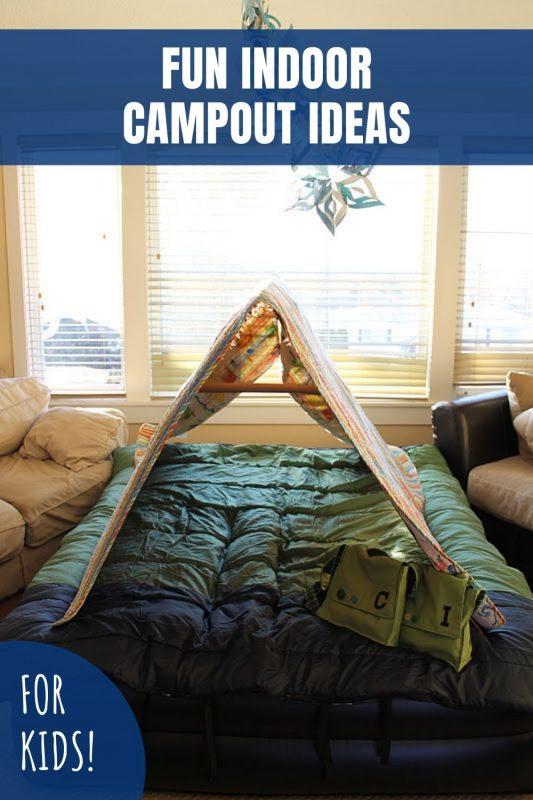 fun indoor campout ideas