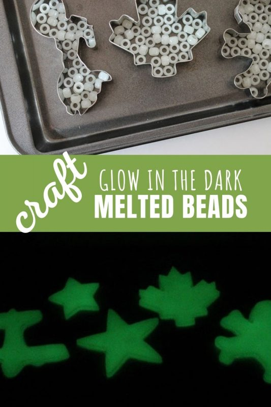 glow in the dark melted beads