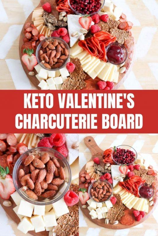 valentines keto charcuterie board