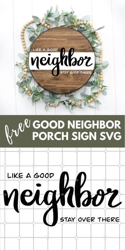 good neighbor porch sign