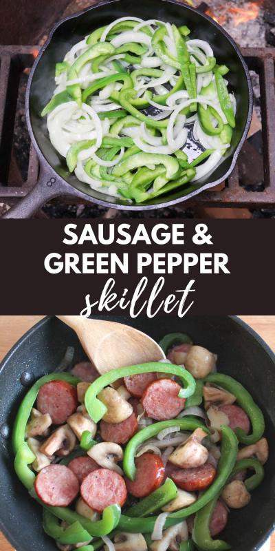 sausage green pepper skillet