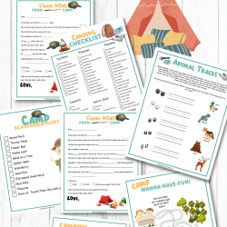 camping activity printables