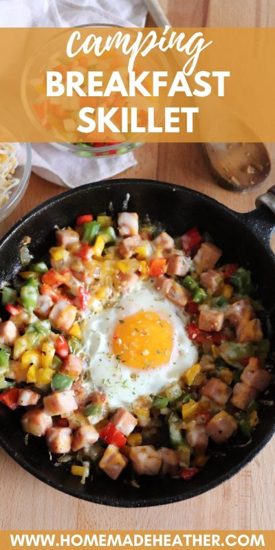 low carb camping breakfast skillet