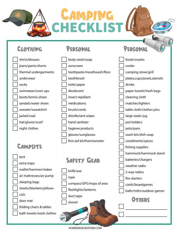 camping checklist copy
