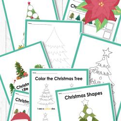 christmas tree activity printables