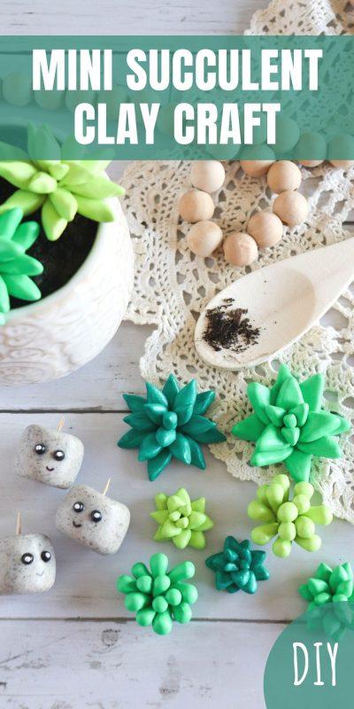 diy mini succulent clay craft