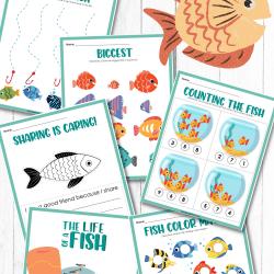 fish activity printables