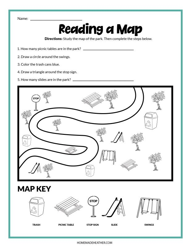 map reading printables