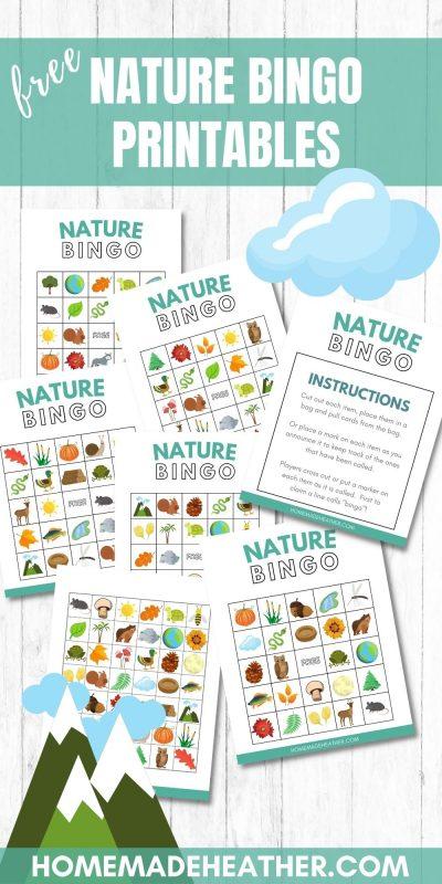 nature bingo printables