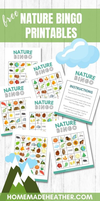 nature printable bingo sheets