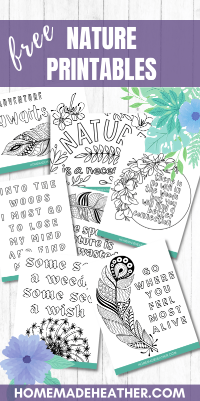 nature printable coloring pages