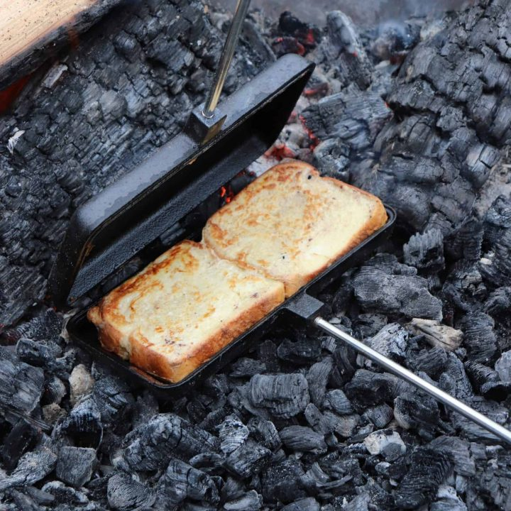 pie iron french toast